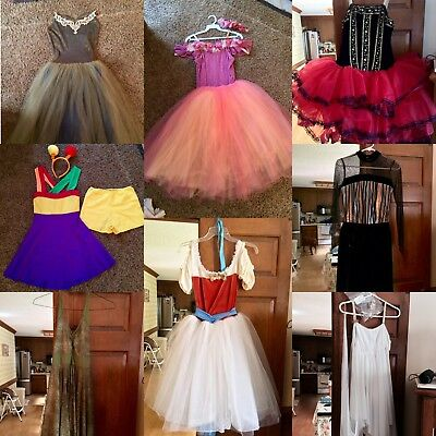 Eight Beautiful Ballet Costumes! Including 4 Tutus! Hair Pieces Included!