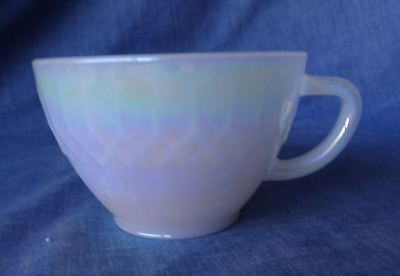 Coffee or Tea Cup Retro Vintage Federal Glass MOONGLOW Iridescent Pearl Lustre