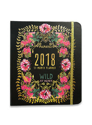 Gypsy Rose 2018 Weekly Planner Papaya Art Organizer Daily Monthly 17 Month
