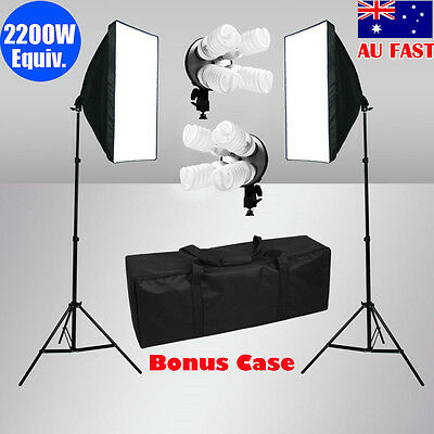 Photography Studio Softbox 4 Head Light Soft Box Continuous Lighting Stand Kit