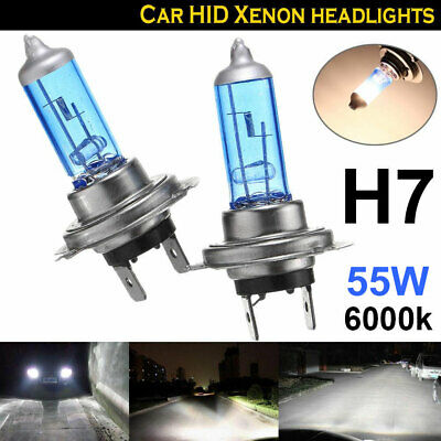 1 Pair 12V H7 55W Xenon Light White 6000k Halogen Car Head Lamp Globes Bulbs AU