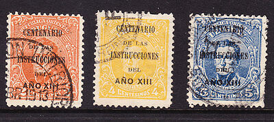 Uruguay 1913 Cent 1813 Over Printed  Conference 332/4
