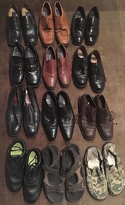 Lot Of 12~Ready For Resale Mens Dress Shoes Designer Department Store Name Brand