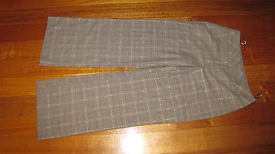 Laura Ashley Vintage Plaid Virgin Wool Pants Size-USA 4 EUC
