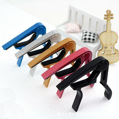 Aluminum Quick Change Clamp Key Capo For Acoustic Electric Classic Guitar Alloy