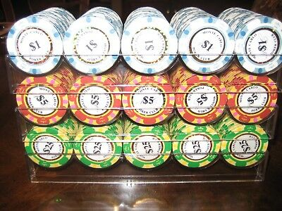 """Large lot  """"Monte Carlo Poker Room""""  Casino style poker chips"""