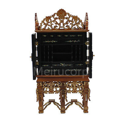 Dollhouse miniature furniture 1/12 scale Deluxe Hand painted Collection cabinet