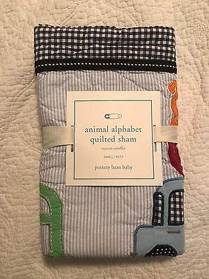 Pottery Barn Kids Animal Alphabet Quilted Sham Small $19.99