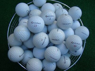 100 Taylormade Tour Mix Golf Balls In A/b Grade Condition