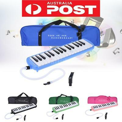 Blue Piano Style 32-Key Melodica C Key with Carrying Bag for Kid Beginner W5S0