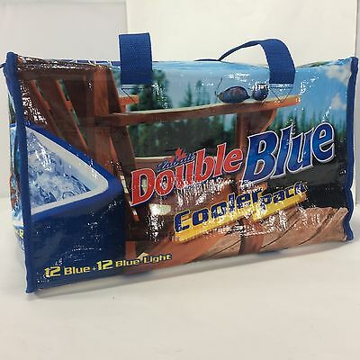 Labatt Blue Cooler Pack Official Soft Sided Double Blue Graphic Blue Light