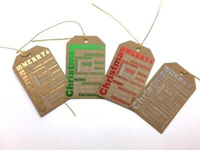 24pk ASSORTED KRAFT XMAS CHRISTMAS LARGE GIFT TAGS LABELS BLANK TAG CRAFT
