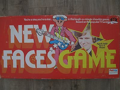 Vintage New Faces Board Game Music Charades Comedy Palitoy 1975