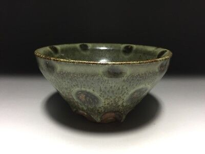 Chinese Antique Ming Dynasty Copy Song Flame-Glazed Tea Bowl