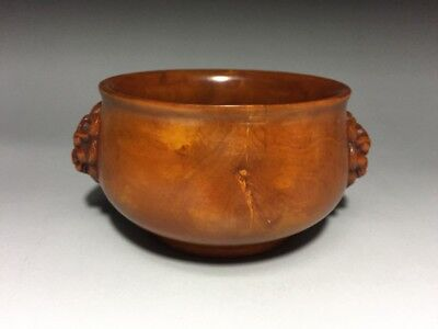 19th Chinese Antique Boxwood Cense