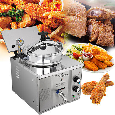 2.4KW 16L Stainless Cooking Countertop Pressure Fryer Meat Temperature 50-200℃