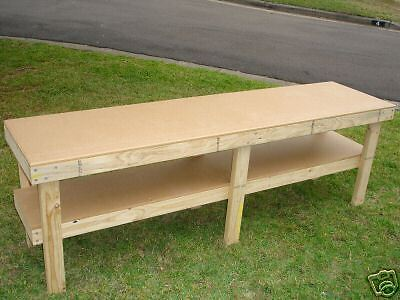 Brand New Timber WORK BENCH - 2400 x 600mm WORKBENCH