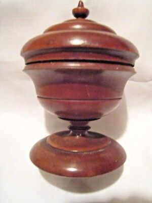 Peaseware Treen Footed Spice Jar With Lid, Treenware. Fine Orig. Cond. 19Th C.
