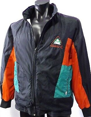 SOUTHS RABBITO'S TOUCH FOOTBALL 70's JACKET PARKER BLACK COOL VINTAGE WINDBREAK
