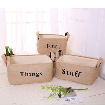 Jute TOYS Storage Bin Storage Baskets for organizing Kids Toys Baby Clothing