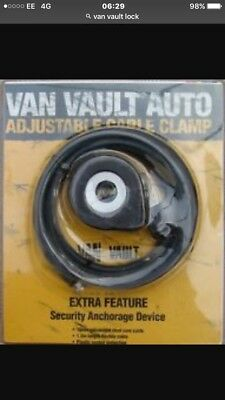 Van Vault Auto Adjustable Cable Clamp Lock Security Anchorage Device Bike Lock