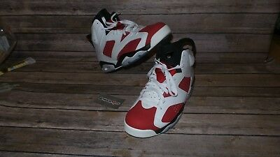 1baf2e6651d4 NIKE AIR JORDAN 6 VI RETRO CARMINE WHITE RED BLACK Size 13 -  248.79 ...