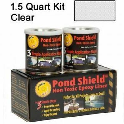 Fountain & Water Feature Pond Armor Pond Shield Epoxy Paint, 1.5-Quart, Clear FT