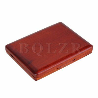 Amber Color Wooden Oboe Reed Case Storage for 12 Reeds with Magnetic Closure