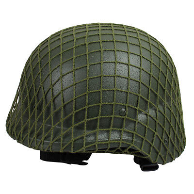 Helmet Army Green With Netting Cover War Double Layer Steel Military For CS M1