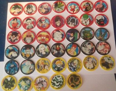 Dragonball Z Tazos - Complete Set - 40/40 Most in Mint Condition, Few Near Mint