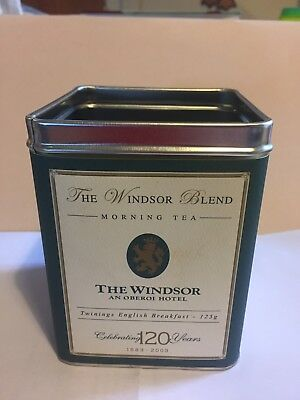 The Windsor Hotel,120 Year Tea Tin, Empty, 125g