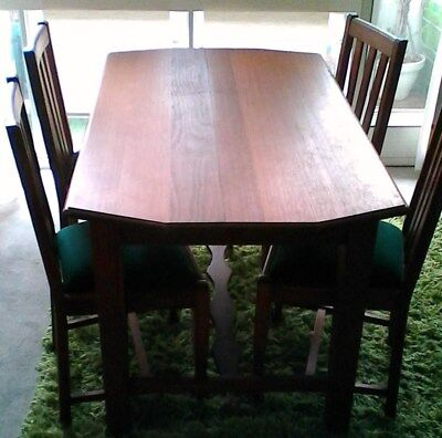 Dining Table 4 seater, solid wood, handmade. Circa 1970'S