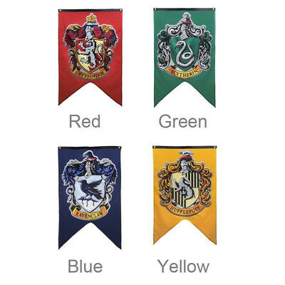 Harry Potter House Badge Wall Banner Patch Gryffindor Hufflepuff Flag Home Decor