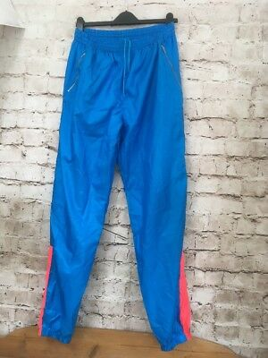 Vintage 1980s Nike International Tracksuit shell suit Bottoms Blue Glanz Medium