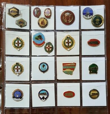 Bulk Lot BOWLING Club BADGES x21 RAILWAY INSTITUTES Vic Qld NSW UK No Clasps