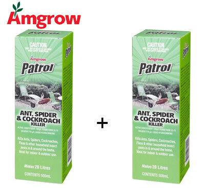 Amgrow Patrol Ant Spider Cockroach Concentrate (2x500ml packets included) 82020R
