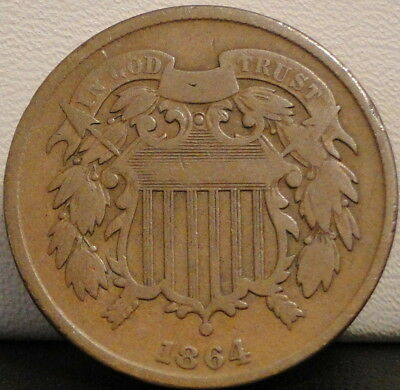 1864 Two Cent Piece - (180 Degree Rotated Reverse)