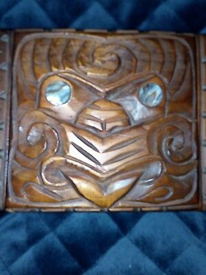 Vintage collectable NZ Maori Wooden Box