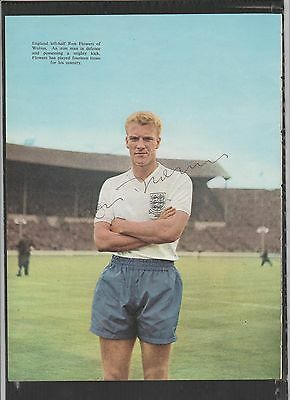 Signed picture of RON FLOWERS the ENGLAND Footballer