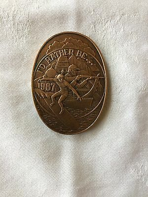 1987 Endymion Antique Bronze Doubloon New Orleans Mardi Gras