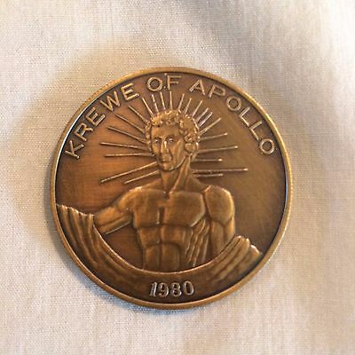 1980 Krewe of Apollo Antique Bronze Doubloon   NICE!!