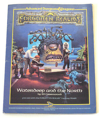ADVANCED DUNGEON DRAGONS TSR AD&D FR1 WATERDEEP & THE NORTH 9213 Forgotten Realm
