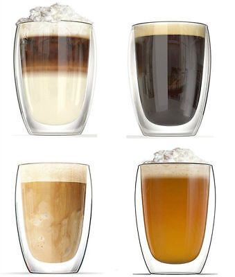 Heat Resistant Double Layer Thermo Pyrex Glass Latte Coffee Glasses Tea Mug