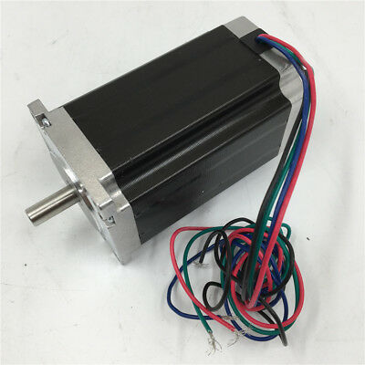 Shaft D8mm Nema23 2ph Stepper Motor 3Nm 429oz.in 4.2A L112mm for Laser Marking