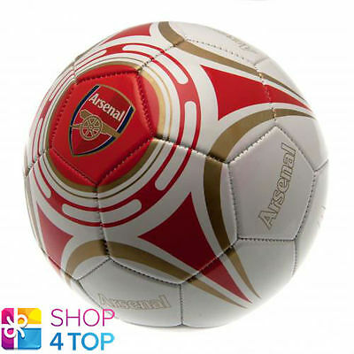 Arsenal Fc Size 5 Ball 32 Panel White Official Football Soccer Club Team New