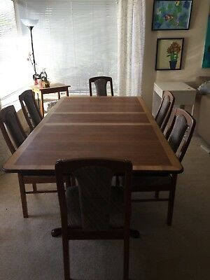 Dining Table With Extensions And 6 Chairs
