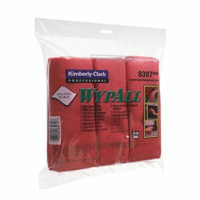 Wypall Red Microfibre Cloth (Pack of 6) 8397, Highly absorbent [KC83970]