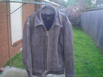 Mars Leathers Motorcycle Brown Leather Jacket Size 50 Excellent Condition!!!