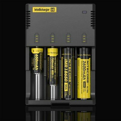 Nitecore i4 Intellicharge Li-ion Battery Universal Charger 26650 18650 AA /AAA