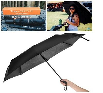 Travel Umbrella Wind proof Compact Lightweight Durable Auto Open By TripWorthy
